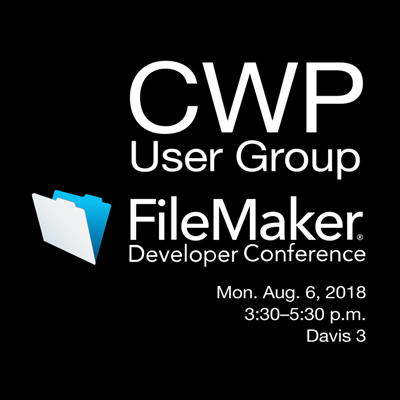 User Group at FileMaker DevCon 2018